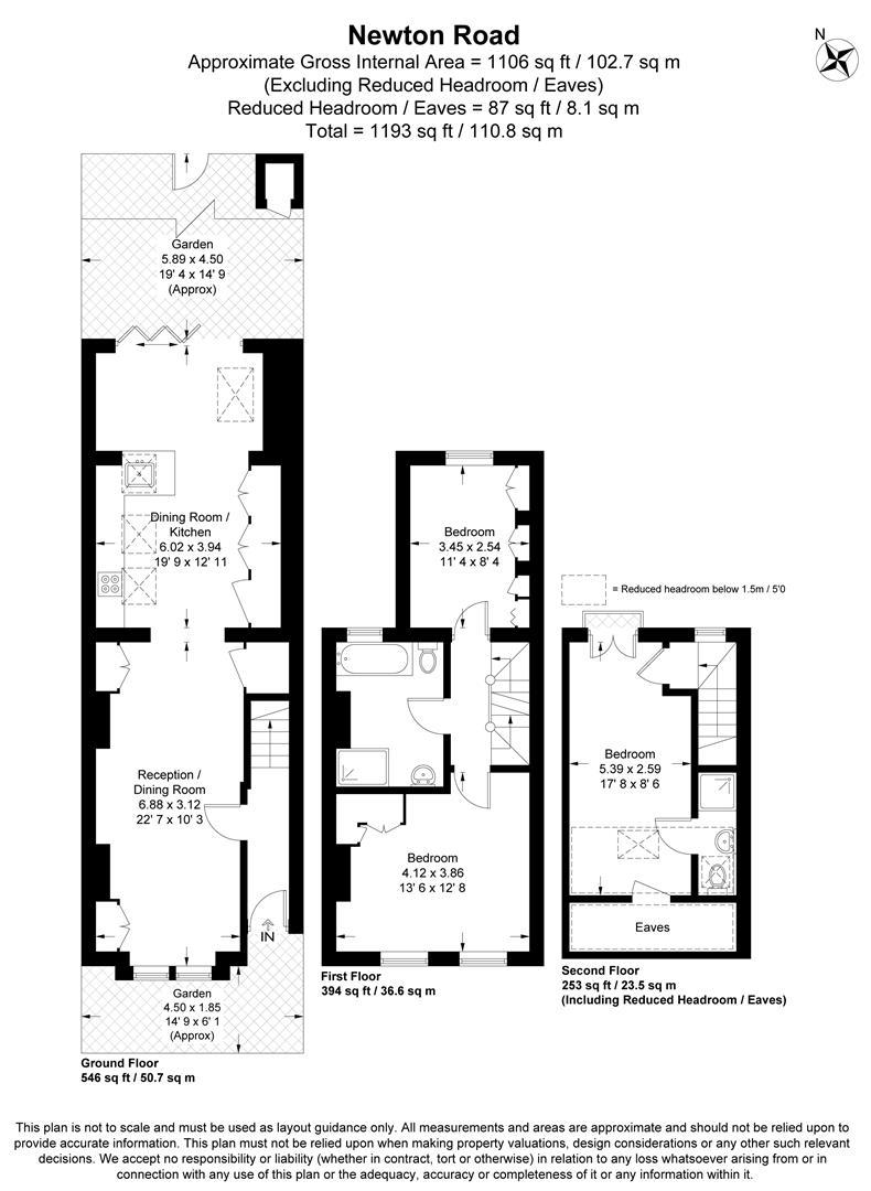 Floorplan for Newton Road, Wimbledon